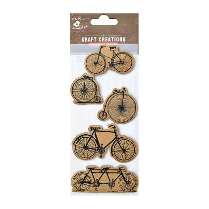 CR42487 Antique Bicycles - Zestaw naklejek - Little Birdie