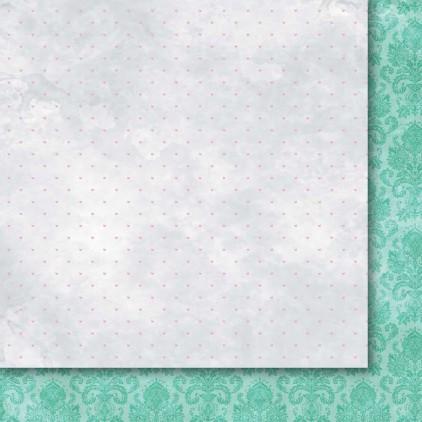 GP/OS06 Papier do tworzena kartek i scrapbookingu 30 x30 cm- Galeria Papieru - Odruch serca 06