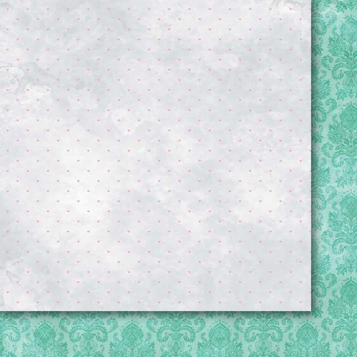 Papier do tworzena kartek i scrapbookingu 30 x30 cm- Galeria Papieru - Odruch serca 06