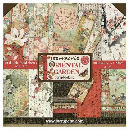 SBBL58 Set of scrapbooking papers - Stamperia - Oriental garden