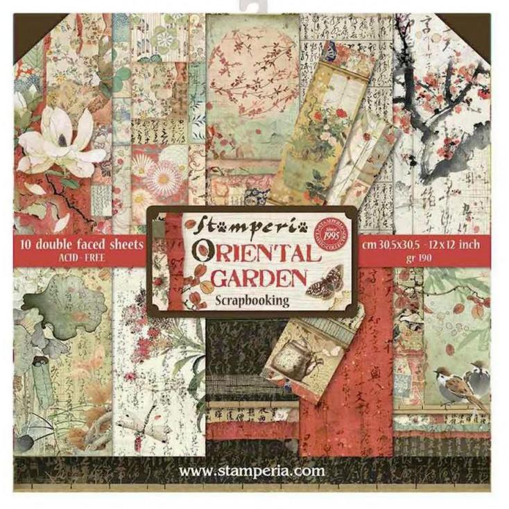 SBBL58 Zestaw papierów do tworzenia kartek i scrapbookingu - Stamperia - Oriental garden