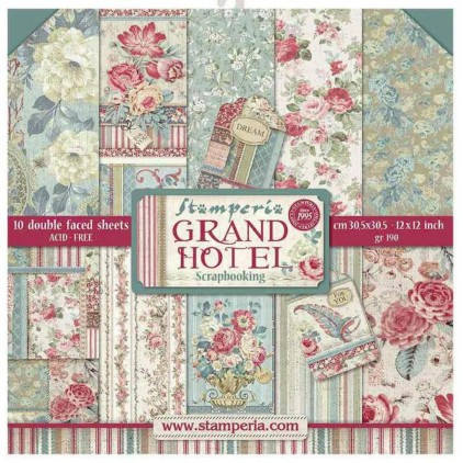SBBL57 Set of scrapbooking papers - Stamperia - Grand Hotel