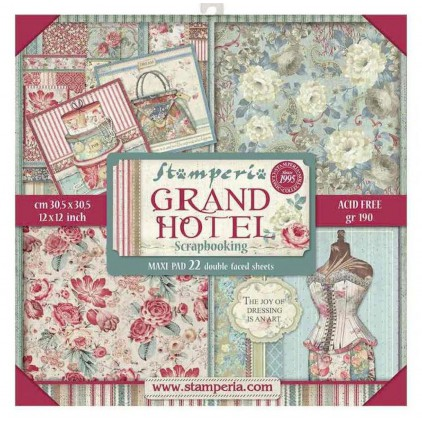 SBBXL03 Maxi set of scrapbooking papers - Stamperia - Grand Hotel