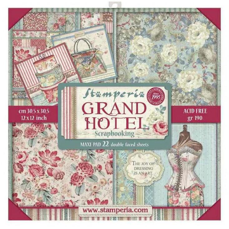 SBBXL03 Maxi zestaw papierów do tworzenia kartek i scrapbookingu - Stamperia - Grand Hotel