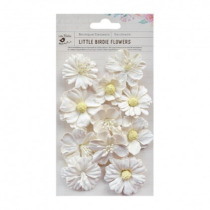 CR70063 scrapbooking flowers - Little Birdie -CR55763 - kwiatki papierowe - Little Birdie - Noelle Moon light