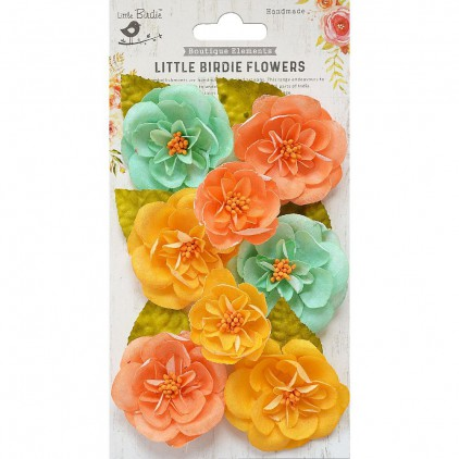 CR79329 scrapbooking flowers - Little Birdie - Ardice Pastel Palette