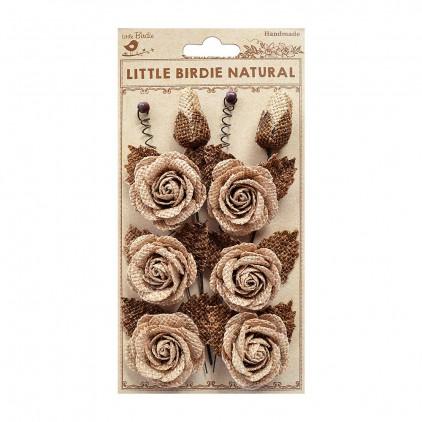 CR76022 scrapbooking jute flowers - Little Birdie - Alayna