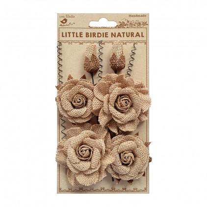 CR76000 scrapbooking jute flowers - Little Birdie - Reagan
