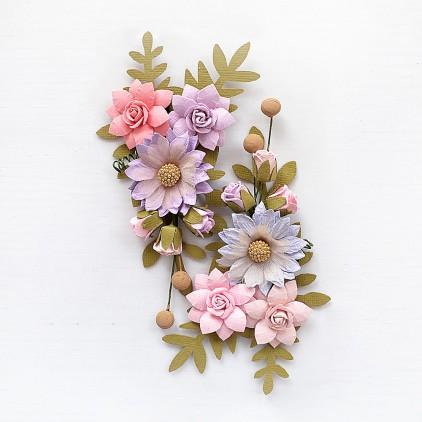 CR79427 - kwiatki papierowe - Little Birdie - Rosa Fairy Sparkle