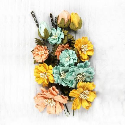 CR70092- kwiatki papierowe - Little Birdie - Natalie Pastel Palette