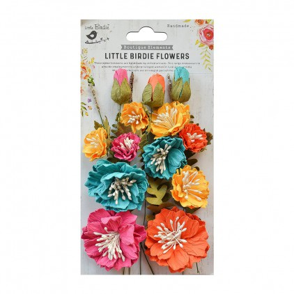 CR70092 scrapbooking flowers - Little Birdie -CR55763 - kwiatki papierowe - Little Birdie - Natalie Pastel Palette