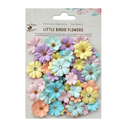 CR67032 scrapbooking flowers - Little Birdie -CR55763 - kwiatki papierowe - Little Birdie - Spring Blend Pastel