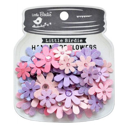 CR79498 scrapbooking flowers - Little Birdie -CR55763 - kwiatki papierowe - Little Birdie - Florettes Fairy Sparkle