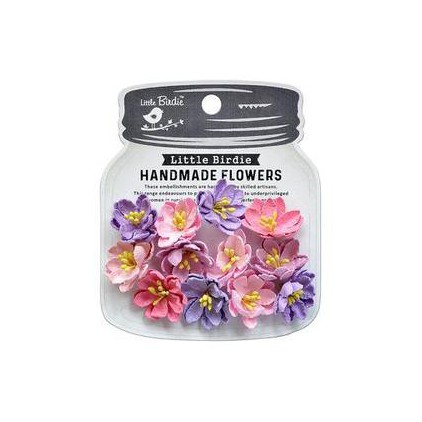 CR79457 scrapbooking flowers - Little Birdie -CR55763 - kwiatki papierowe - Little Birdie - Elvina Fairy Sparkle