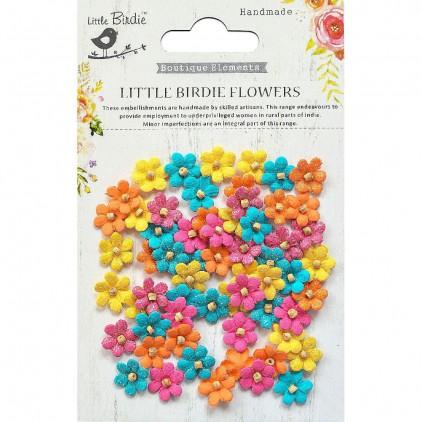 CR69387 kwiatki papierowe - Little Birdie - Beaded Micro Petals Vivid Palette