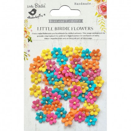 CR69387 scrapbooking flowers - Little Birdie -CR55763 - kwiatki papierowe - Little Birdie - Beaded Micro Petals Vivid Palette