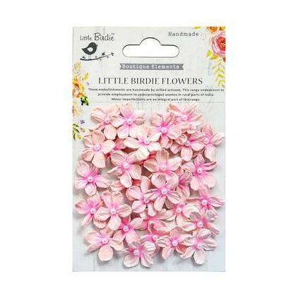 CR69578 scrapbooking flowers - Little Birdie -CR55763 - kwiatki papierowe - Little Birdie - Pearl Petites Pearl Pink
