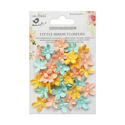 CR69573 scrapbooking flowers - Little Birdie -CR55763 - kwiatki papierowe - Little Birdie - Pearl Petites Pastel Palette
