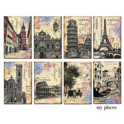 Decorer - Zestaw mini papierów do scrapbookingu - My Places
