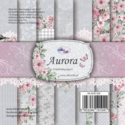Bloczek papierów 15x15cm - Aurora - Altair Art Alt-AUR-200