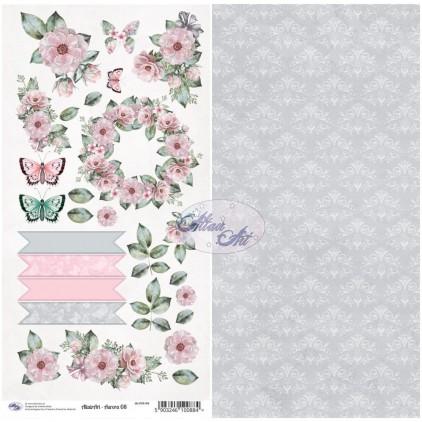 Scrapbooking paper 30x15cm - Aurora 08 - Altair Art Alt-AUR-108