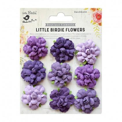 CR76714 kwiatki papierowe - Little Birdie - Vincy Mysterious Mauve