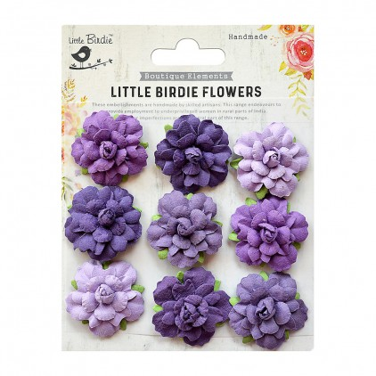 CR76714 scrapbooking flowers - Little Birdie -CR55763 - kwiatki papierowe - Little Birdie - Vincy Mysterious Mauve