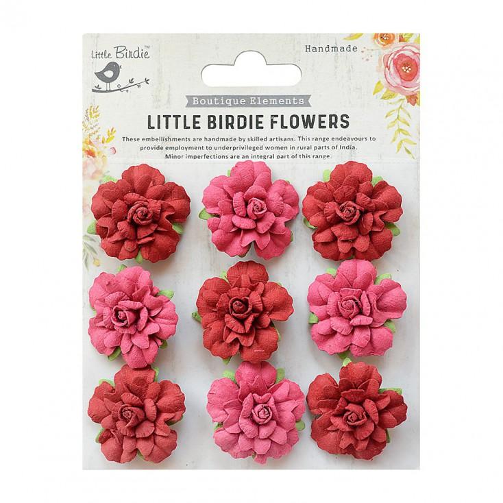 CR76711 scrapbooking flowers - Little Birdie -CR55763 - kwiatki papierowe - Little Birdie - Vincy Candy Mix