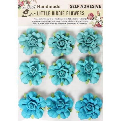 CR66987 kwiatki papierowe - Little Birdie - Vincy Blue Jay