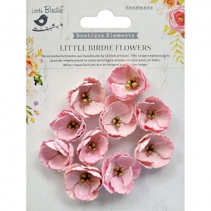 CR70121 scrapbooking flowers - Little Birdie -CR55763 - kwiatki papierowe - Little Birdie - Embosses Daisies Pearl Pink