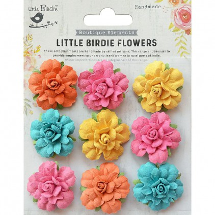 CR76701 scrapbooking flowers - Little Birdie -CR55763 - kwiatki papierowe - Little Birdie - Vincy Pastel Palette