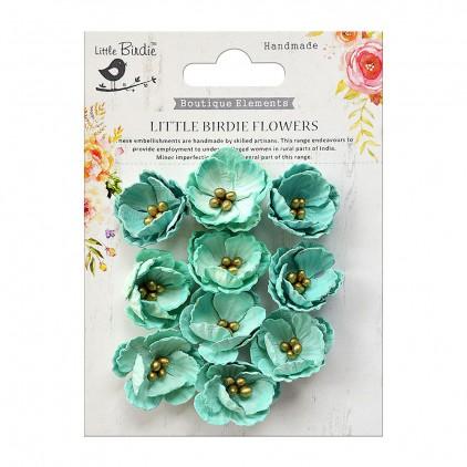 CR70117 kwiatki papierowe - Little Birdie - Embosses Daisies Arctic Ice