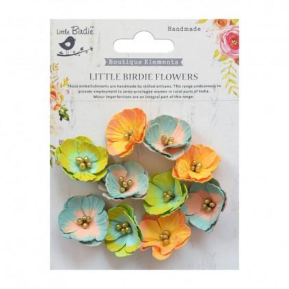 CR70116 kwiatki papierowe - Little Birdie - Embosses Daisies Pastel Palette