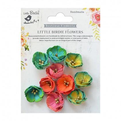 CR70125 kwiatki papierowe - Little Birdie - Embosses Daisies Vivid Palette