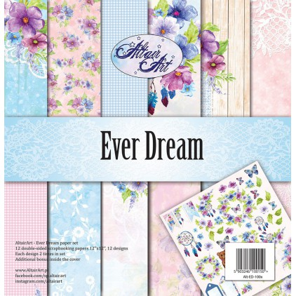 Scrapbooking paper set 30x30cm - Ever Dream - Altair Art Alt-ED-100