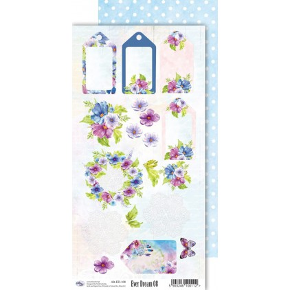 Scrapbooking paper 30x15cm - Ever Dream 08 - Altair Art Alt-ED-108