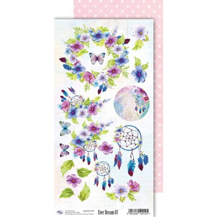 Scrapbooking paper 30x15cm - Ever Dream 07 - Altair Art Alt-ED-107