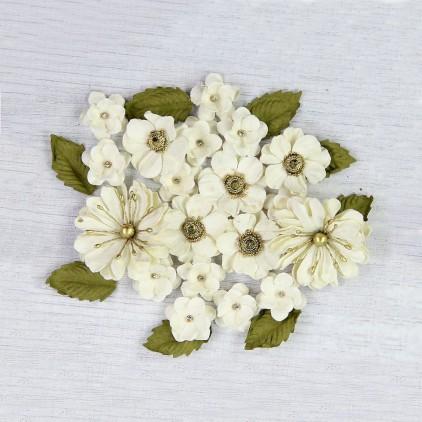 CR70125 scrapbooking flowers - Little Birdie -CR55763 - kwiatki papierowe - Little Birdie - Embosses Daisies Vivid Palette