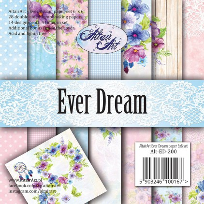 Scrapbooking paper pad 15x15cm - Ever Dream - Altair Art Alt-ED-200