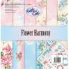 Papiery do skrapbookingu, zestaw 30x30cm - Flower Harmony - Altair Art Alt-FH-100