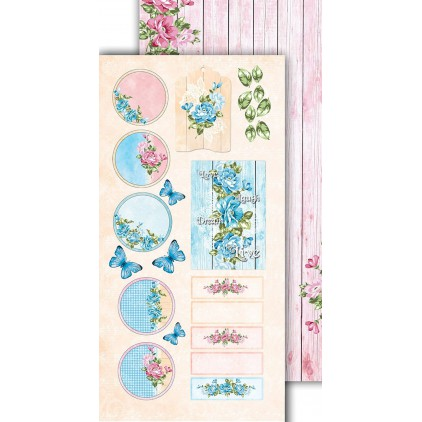 Scrapbooking paper 30x15cm - Flower Harmony 09 - Altair Art Alt-FH-109