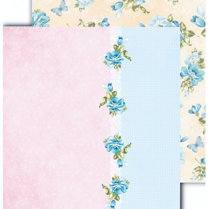 "Scrapbooking paper 12x12"" - Flower Harmony 06 - Altair Art Alt-FH-106"