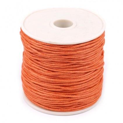 Sznurek woskowany - palony pomarańczowy - Ø1mm - szpula