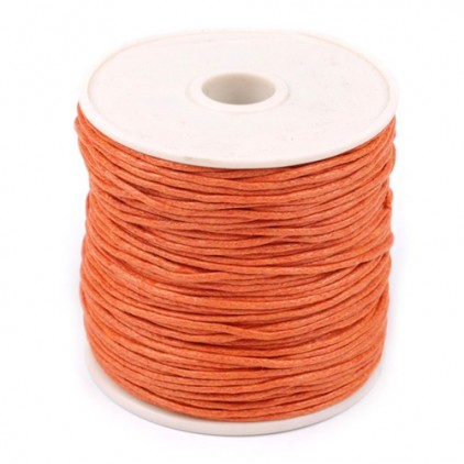 Waxed twine - burnt orange - Ø1mm - one spool