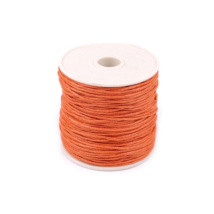 Waxed twine - burnt orange - Ø1mm - one spool