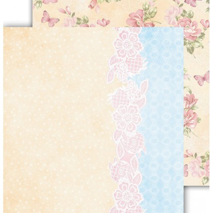 "Scrapbooking paper 12x12"" - Flower Harmony 05 - Altair Art Alt-FH-105"