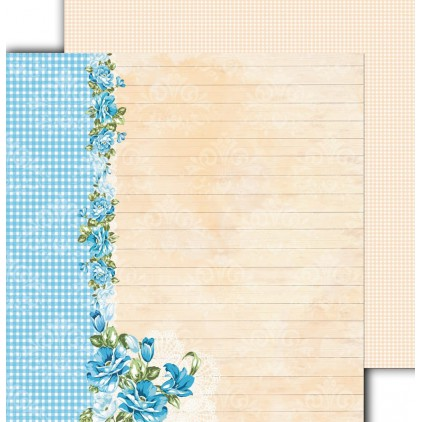 "Scrapbooking paper 12x12"" - Flower Harmony 04 - Altair Art Alt-FH-104"