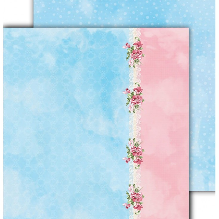 "Scrapbooking paper 12x12"" - Flower Harmony 03 - Altair Art Alt-FH-103"