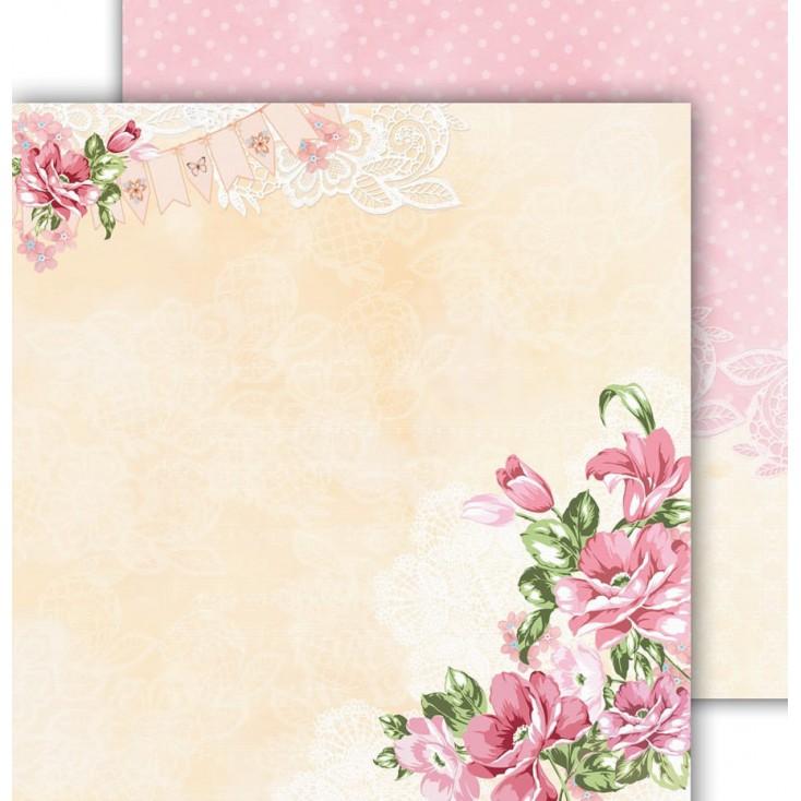 Papier scrapowy 30,5x30,5cm - Flower Harmony 01 - Altair Art Alt-FH-101