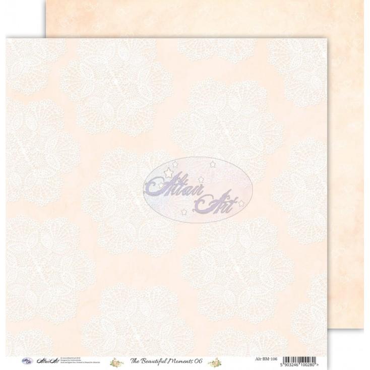 Papier scrapowy 30,5x30,5cm - The beautiful moments 06 - Altair Art Alt-BM-106